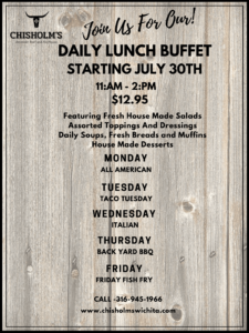 chisholm's daily lunch buffet