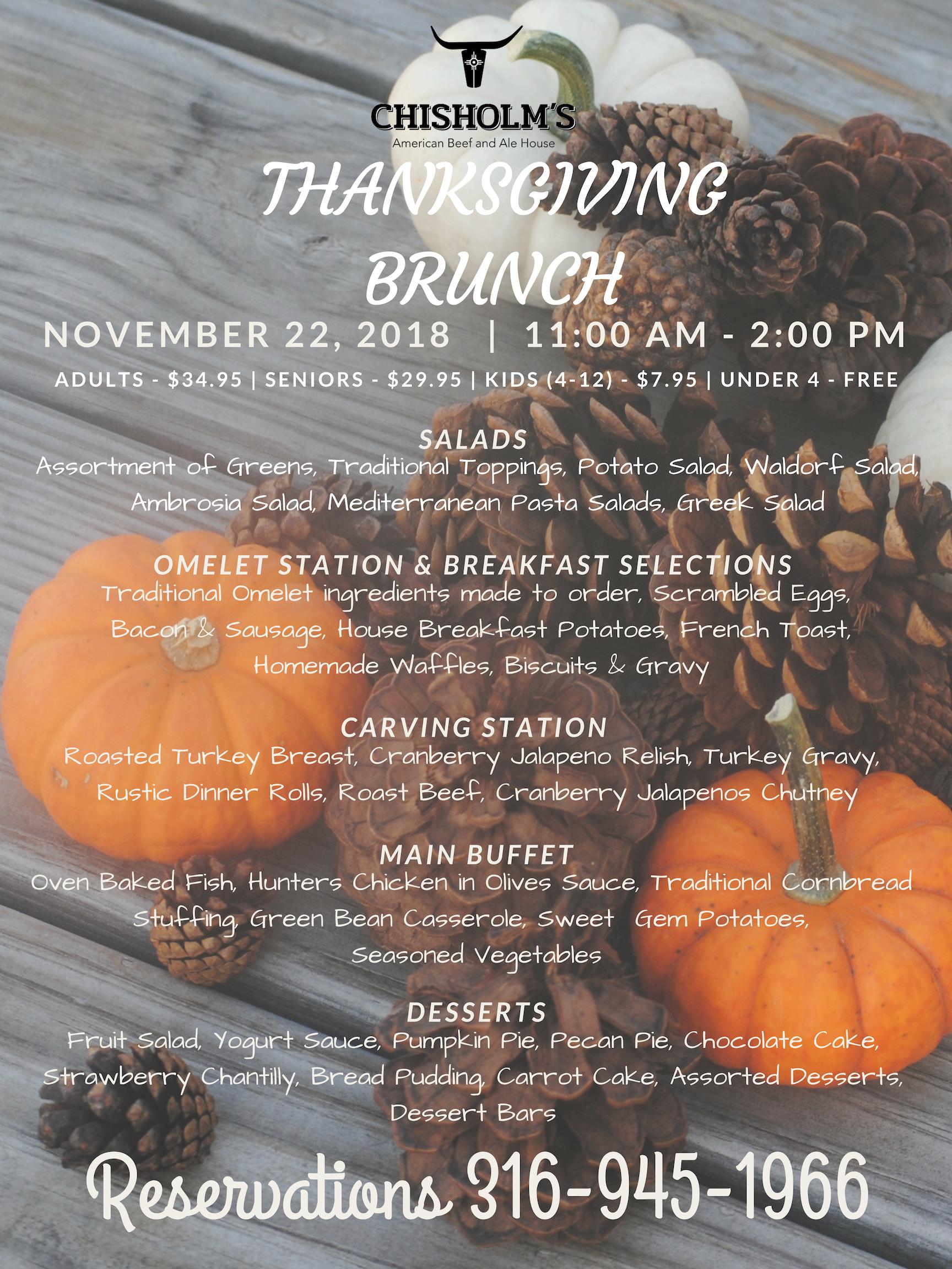 thanksgiving brunch menu